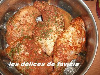 Cuisses de poulet cuits la vapeur les d lices de fawzia - Comment cuisiner les cuisses de poulet ...